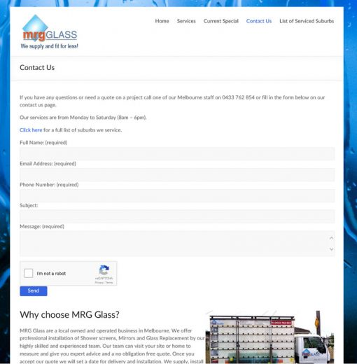 MRGGlass - Contact Us