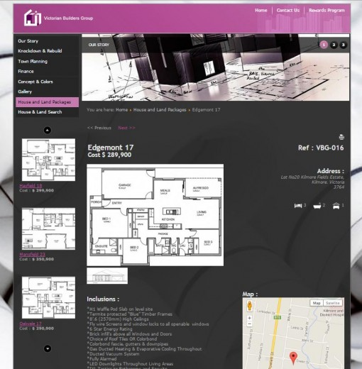 Individual Property Page
