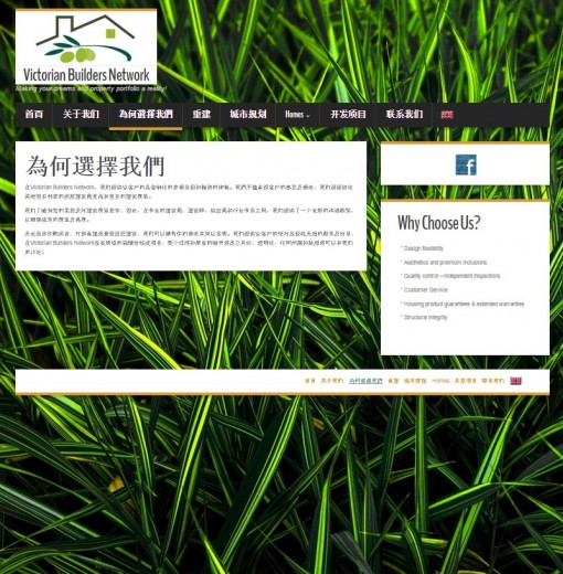 Information Page in Chinese