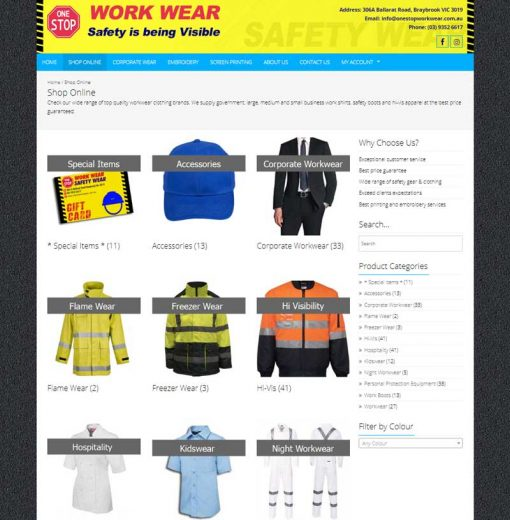 One Stop Workwear - Categories