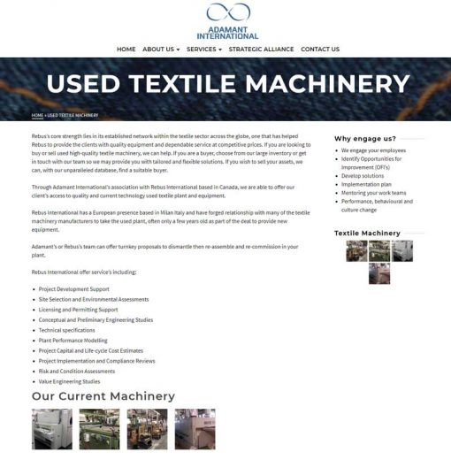 Adamant International - Used Textile Machinery